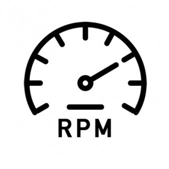 Pomiar prędkości obrotowej RPM bez tachometr laserowy