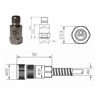 Czujnik drgań RH103 100mV/g